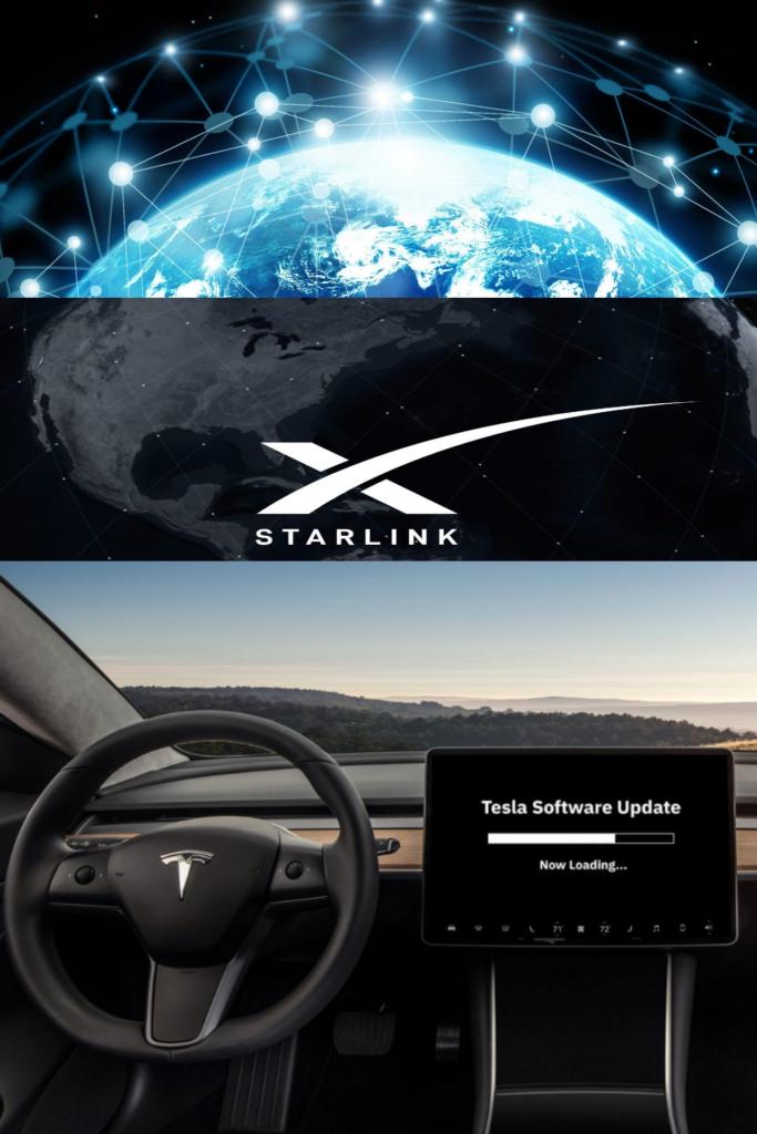 Tesla araçları için Starlink uydusu üzerinden kablosuz olarak araç yazılımlarını güncelledi.